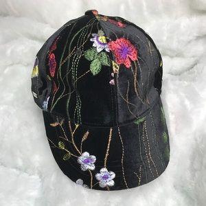 Accessories - Floral print brim cap